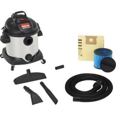 JD435 Stainless Steel Wet/Dry Vacuum 5.5 Peak HP #58751-10 SHOP VAC