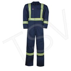 SEC061 Arc Flash Work Coveralls -Unlined Navy Blue Arc Rating: 12.4 cal/cm2 Standard(s) Met: NFPA 70E/NFPA 2112 BIG BILL #1325US9 (SMALL-3XLARGE)