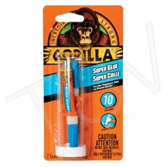 NKA496 Gorilla Super Glue Format: 2 x 3 g Container Type: Tube Colour: CLEAR GORILLA #7900301