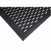 "SDL872 Scraper Matting, 3'W x 5'L x 5/16""TH Colour: SLOTTED Black Rubber Traffic: Medium-Heavy ZENITH"