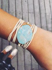 Turquoise x Tan Wrap