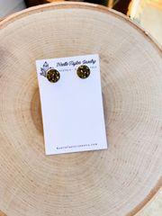 Gold x White Earrings