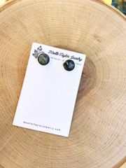 Faux Shell x Silver Earrings