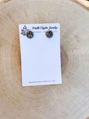 Gunmetal x Silver Earrings