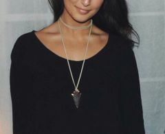 Brown x Tan Arrow Necklace