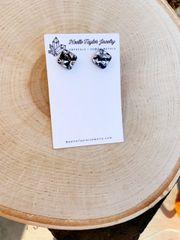 Silver Metallic Confetti Earrings