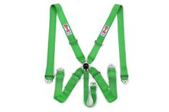 5 Point harness Green Camlock