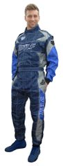 BRAND NEW 2018 FIREPROOF RACE OVERALLS BLUE NAVY AND GREY