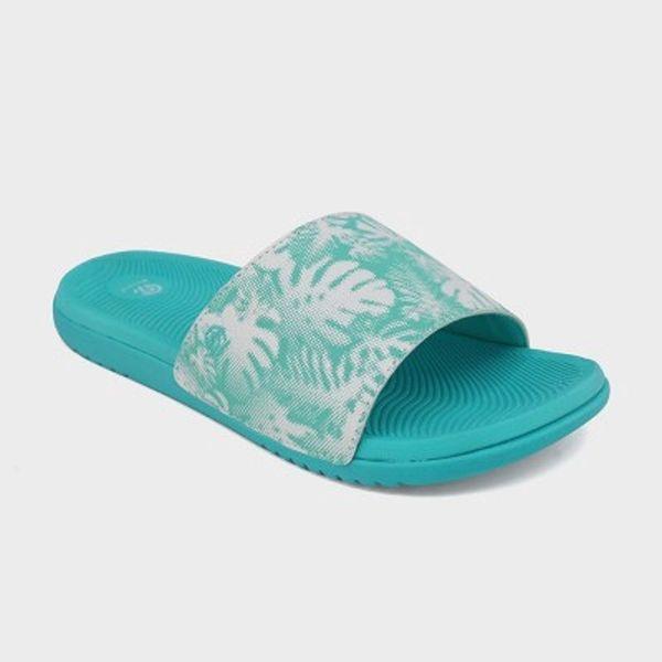 a14dc8f30 Girls  Mallie Slide Sandals - C9 Champion- Turquoise