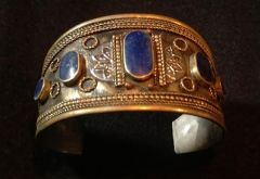 Tribal Blue Lapis Medium Cuff