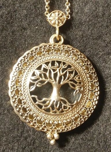 Tree of Life Magnifying Glass Necklace Pendant
