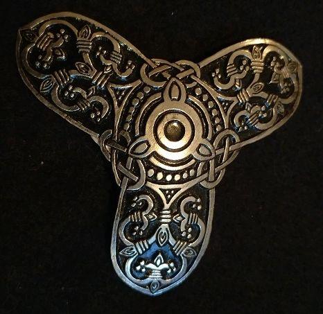 Three tipped Viking Triskel Broach Large