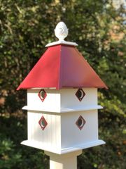 Plantation House with Merlot Red Roof, Deluxe Guards and Premium Finial