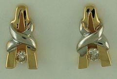 1/8ctw Channel Set Diamond Earrings