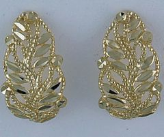 Leaf Pattern Drop Earrings