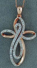 1/2ctw Diamond Cross Pendant on a Chain