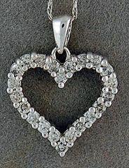 Ladies 1/2ctw Diamond Heart Pendant on a Chain