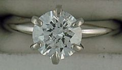1-3/8ct Round Cut Diamond Solitaire Ring
