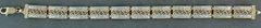Two-Tone Swirl Link Bracelet