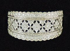 Ladies Lacy Diamond Band