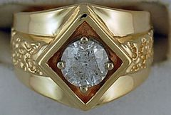 1-1/20ct Gentlemans Nugget Style Ring