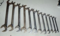 12 pc SAE Four-Way Angle Head Open End Wrench Set
