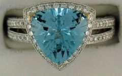 Ladies 1ctdw Diamond and Topaz Ring