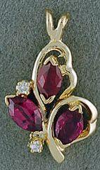 1/2ctgw Ruby and Diamond Pendant