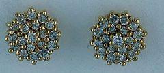 1/2ctw Diamond Cluster Stud Earrings
