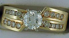 Ladies 1-1/4ctw Diamond Engagement Ring
