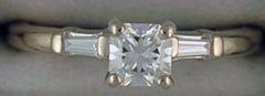 Ladies 5/8ctw Cushion Cut Diamond Engagement Ring
