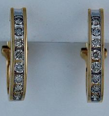 1ctw Diamond French Clip Hoop Earrings