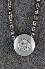 1/10ct Diamond Solitaire Pendant on a Boxlink Chain