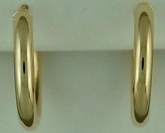 Medium Smooth Hoop Earrings