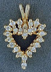 1/8ctw Diamond Heart Pendant