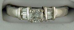 Ladies 5/8ctw Diamond Engagement Ring