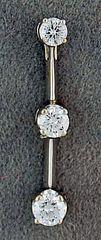 Ladies 1/2ctw Diamond Drop Pendant