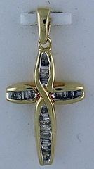 1/4ctw Diamond Cross Pendant