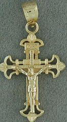 Small Yellow Gold Crucifix Pendant