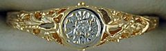 Ladies Filigree Style Diamond Solitaire Ring