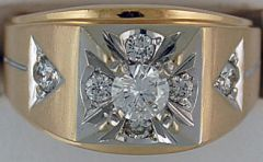 3/4ctw Gentleman's Diamond Ring