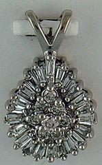 1/2ctw Diamond Tear Drop Pendant