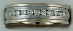 Gentleman's 1/2ctw Diamond Wedding Band
