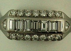 Ladies Diamond and Platinum Band