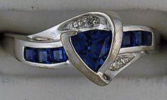 Diamond and Blue Stone Ring