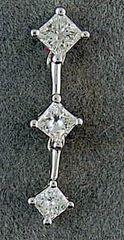 3 Diamond Drop Pendant