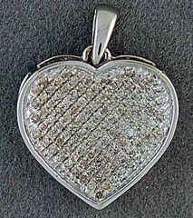 1/2ctw Diamond Heart Pendant