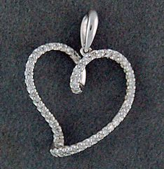 White Gold and Diamond Pendant