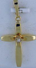 "1"" Diamond Cross Pendant"