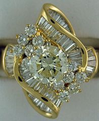 Ladies 3-3/4ctw Diamond Ring